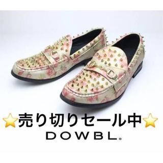 ダブル(DOWBL)の新品DOWBLスタッズビットローファー26cmFLOWER♂定価12,960円(ドレス/ビジネス)