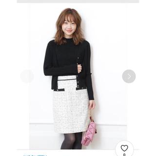JUSGLITTY - JUSGLITTY♡ツイードAラインミニスカート