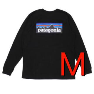 パタゴニア(patagonia)の大人気‼️パタゴニア P-6ロゴ ロングスリーブ  レスポンシビリティブラック(Tシャツ/カットソー(七分/長袖))