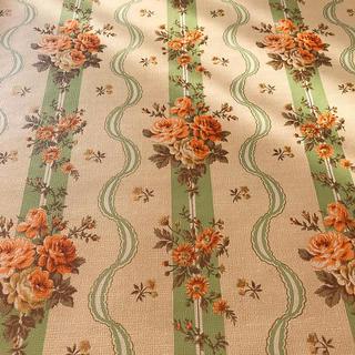 【お値下げ】ロココ調♡花柄ストライプ♡アンティーク壁紙♡クロス(新品・未使用)(型紙/パターン)