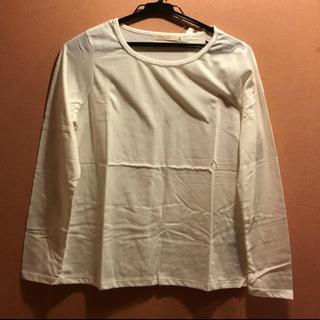ショコラフィネローブ(chocol raffine robe)の【新品】chocol raffine robeシルバーテープ ロンT ホワイト(Tシャツ(長袖/七分))