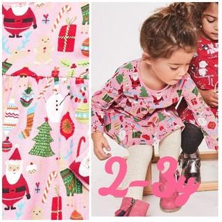 NEXT - ☆NEXT☆クリスマス柄ワンピースピンク2-3y