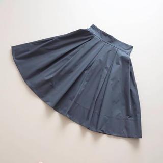 フォクシー(FOXEY)の■FOXEY NY■ 38 リッチグレー グログラン プリーツフレアスカート(ひざ丈スカート)