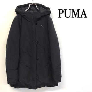 PUMA - 美品 PUMA ダウンコート ショート丈 ブラック 刺繍ロゴ