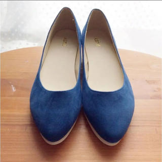 フェリシモ  nusy フラットパンプス 25cm(ローファー/革靴)