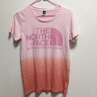 THE NORTH FACE - ノースフェイス Tシャツ タイダイ柄 ピンク オレンジ
