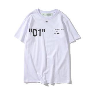 オフホワイト(OFF-WHITE)のオフホワイト off white サイズXL Tシャツ 半袖 01 白(Tシャツ/カットソー(半袖/袖なし))