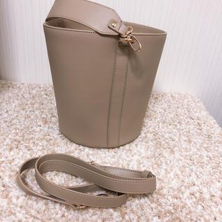 ジーナシス(JEANASIS)のジーナシス✨2way ファー付きバケツ型バッグ (ショルダーバッグ)