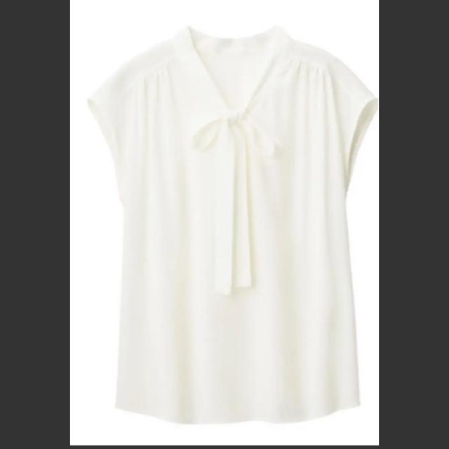 GU(ジーユー)のGU ボウタイブラウス レディースのトップス(シャツ/ブラウス(半袖/袖なし))の商品写真
