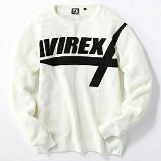 AVIREX - AVIREX ワッフルプリントクルーネックシャツ