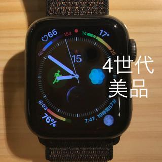 アップルウォッチ(Apple Watch)のアップルウォッチ4  スペースグレー 美品(その他)