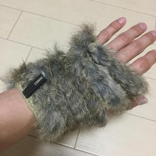 コムサメン(COMME CA MEN)の新品未使用 コムサメン ファーグローブ 手袋(手袋)