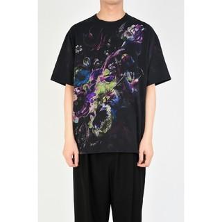 ラッドミュージシャン(LAD MUSICIAN)の【lad musician】19aw 花柄T Black×Green 42(Tシャツ/カットソー(半袖/袖なし))
