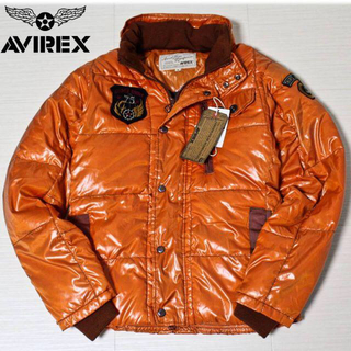 アヴィレックス(AVIREX)の《アヴィレックス》新品 中綿パディング T.A.F. ジャケット オレンジ M(フライトジャケット)