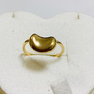 ティファニー(Tiffany & Co.)のお値下げ 美品 正規品 ティファニー ビーンズリング 7号 k18  刻印有(リング(指輪))