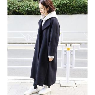 イエナ(IENA)の極美品 2018AW ロングスリットコート ネイビー36(ロングコート)