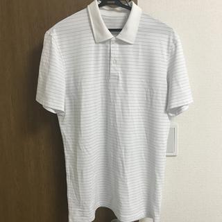 UNIQLO - UNIQLO メンズ ボーダーポロシャツ Lサイズ
