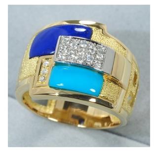 新品状態、ダイヤモンド、池田啓子デザインリング。(リング(指輪))