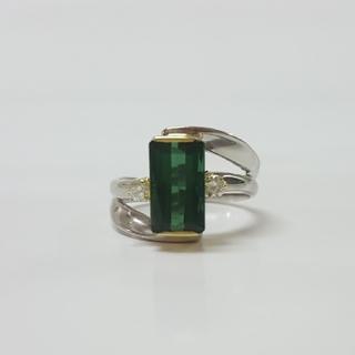 天然トルマリンとダイヤモンドのリング(リング(指輪))