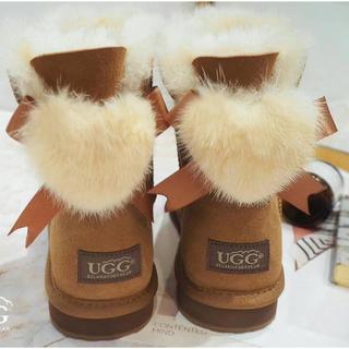 アグ(UGG)の日本新入荷 オーストラリアD&K UGG美品リボンムートンブーツ(ブーツ)