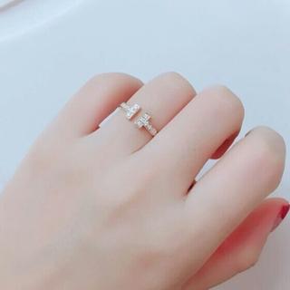 ティファニー(Tiffany & Co.)のティファニー ダイヤ Tワイヤー リング Tiffany & Co.  12(リング(指輪))