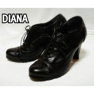 ダイアナ(DIANA)のダイアナ  ショートブーツ 黒  24cm(ブーツ)