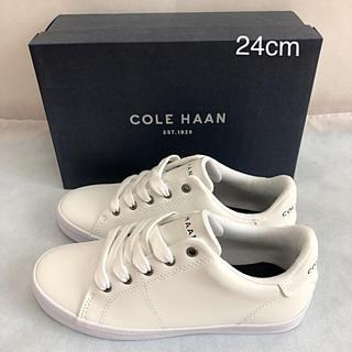 コールハーン(Cole Haan)の未使用 コールハーン COLE HAAN スニーカー 白 24cm(スニーカー)