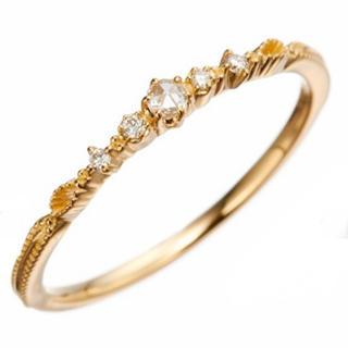 アガット(agete)のagete classic K18 ダイヤモンド リング(リング(指輪))