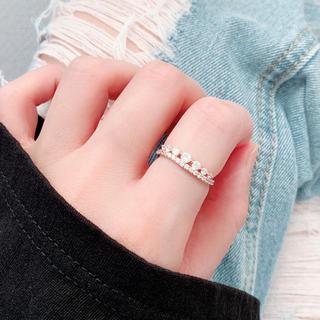 重ね付け✨ジルコニア✨指輪💖一点のみ🌈アレルギー対応✨エレガント✨オシャレ(リング(指輪))