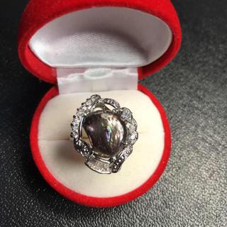 新品 pt プラチナ 本物 真珠 リング 指輪 サイズ: 19号(リング(指輪))