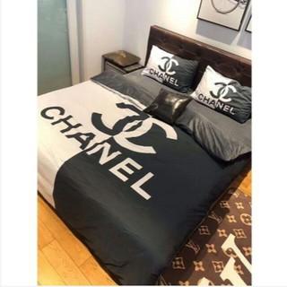 シャネル(CHANEL)の秋冬 新品 シャネル CHANEL ベッドセット 4点セット 寝具 人気(シーツ/カバー)