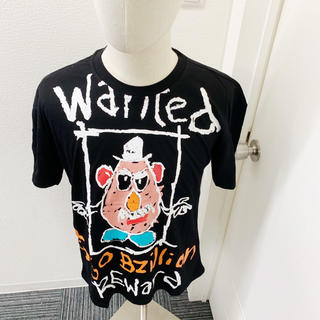 WANTEDTシャツ 黒 韓国 ストリート 肩落ち ルーズ ビッグシルエット(Tシャツ/カットソー(七分/長袖))