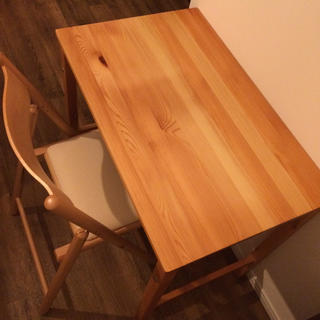 MUJI (無印良品) - 無印良品  折りたたみ式  パイン材テーブル & ブナ材椅子 セット