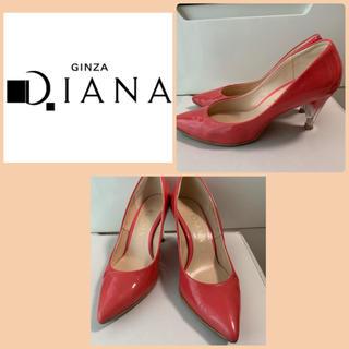 DIANA - ダイアナ ピンクエナメル グラデーションヒール パンプス