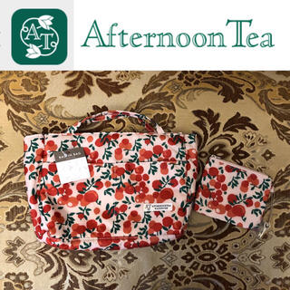 AfternoonTea - タグ付き未使用 AfternoonTea バッグインバッグ&キーチャーム付ポーチ