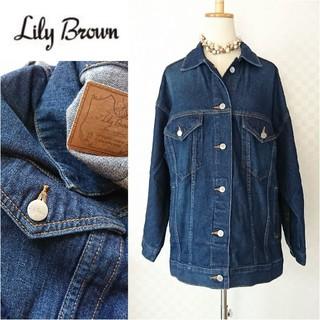 リリーブラウン(Lily Brown)のLily Brown*リリーブラウン【美品】オーバーサイズデニムジャケット(Gジャン/デニムジャケット)
