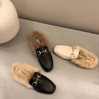 ビット付きバブーシュ(ローファー/革靴)