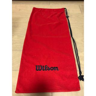 ウィルソン(wilson)のウィルソンテニスラケットソフトカバーユーズド美品☆希少なレッド☆(ラケット)
