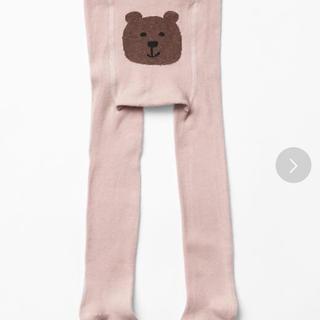 ベビーギャップ(babyGAP)のベビーギャップ クマさんタイツ ピンク(靴下/タイツ)