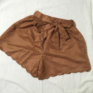ニッセン(ニッセン)のショートパンツ キュロット スカート ブラウン Sサイズ(キュロット)