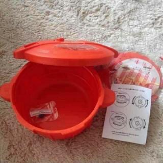 マイヤー(MEYER)のオレンジ色☆新品未使用の圧力鍋(鍋/フライパン)