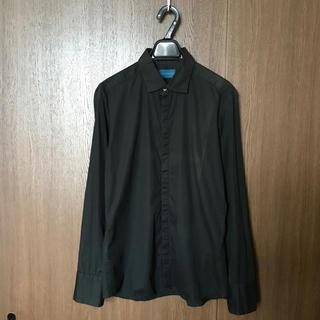 レイジブルー(RAGEBLUE)のRAGEBLUE レイジブルー コットン比翼シャツL/S 長袖ブラックシャツ(シャツ)