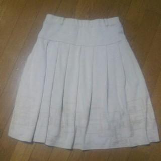 レディーススカート(L)淡いベージュ(ひざ丈スカート)