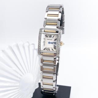 Cartier - 【保証書付】カルティエ フランセーズ SM コンビ ダイヤ レディース 腕時計