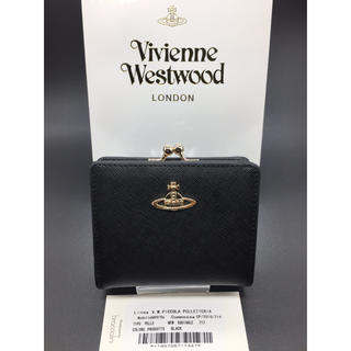 Vivienne Westwood - ヴィヴィアンウエストウッド Vivienne がま口 ブラック 財布 新品 黒
