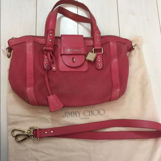 JIMMY CHOO  REDバッグ USED美品