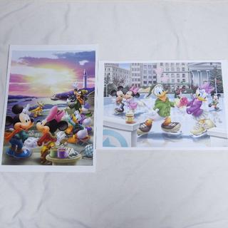 ディズニー(Disney)のディズニー キャラクターアートコレクション ポスター 春夏秋冬(絵画/タペストリー)