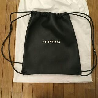 バレンシアガ(Balenciaga)の美品 18春夏 BALENCIAGA バレンシアガ ロゴ レザー ナップサック(ショルダーバッグ)