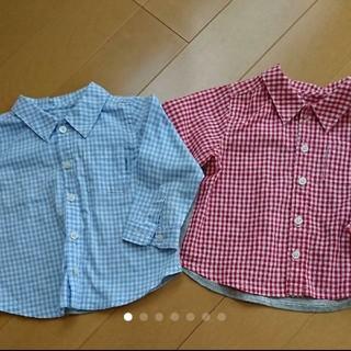 COMME CA ISM - コムサ 長袖シャツ 80㎝ 二枚セット