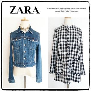 ZARA - 【2点】ZARA*ザラ◆美品◆デニムジャケット×チェックツイードジャケット